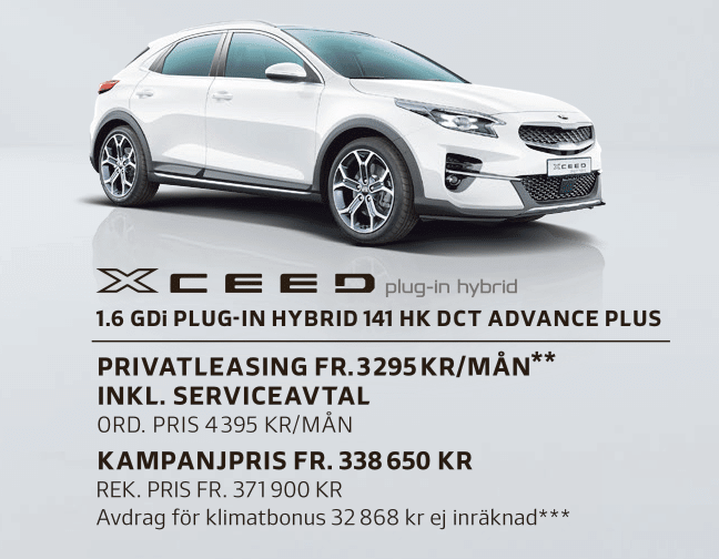 Kalmar Bilcentrum Kia Xceed plug-in hybrid kampanj (1)